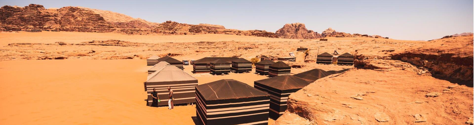 Traditional Bedouin campsite
