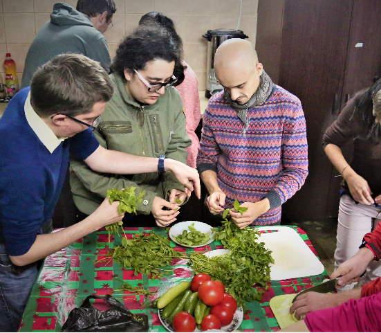 Traditional Cooking Workshop in Nazareth Abraham hostel